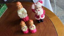 Set 4 Gurley Vintage Christmas Singing Choir Boy/Girl & Santa Wax Figures Candle