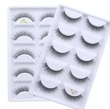 SKONHED 5 Pairs 3D Mink Soft Hair False Eyelashes Wispy Cross Long Lashes Makeup
