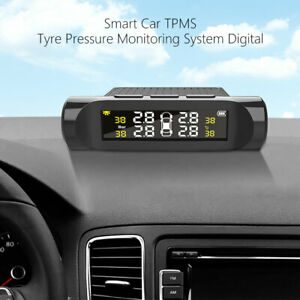 Wireless TPMS Car Tire Tyre Pressure Monitor Monitoring System + 4 Sensors OK