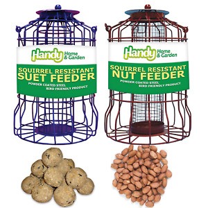 SQUIRREL RESISTANT - FATBALL and NUT FEEDERS with FEED Bundles