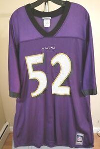Baltimore Ravens NFL Reebok Classic Purple Ray Lewis #52 XL Jersey