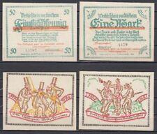 Stöckheim - 50 Pf. + 1 Mark, Lindman 1241 a, la farine 1272.1, compl. Jeu