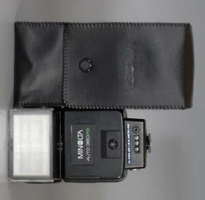 Minolta 360PX TTL Flash with case, diffuser for X700 X370 X570 - Nice Mint-!