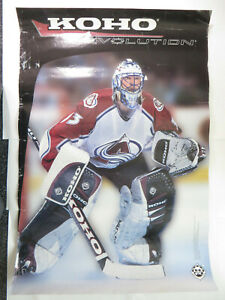 Vtg Hockey NHL Koho Revolution Colorado Avalanche Patrick Roy Poster 34 X 23""