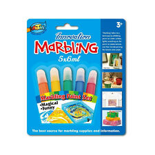 Innovation Marbling Set,5*6ml, For Babric,Paper, New & Improved for kid's DIY