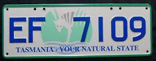 """Nummernschild Australien aus Tasmania """"YOUR NATURAL STATE"""". S-3782."""