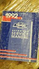 1992 CHEVY CHEVROLET ASTRO VAN SERVICE SHOP MANUAL