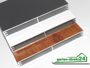 Handmuster Alu-Balkonbretter 16mm, Anthrazit, Weiß oder Golden Oak