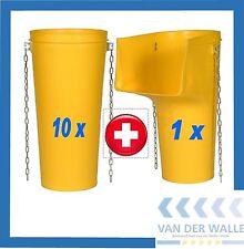 10x Schuttrohre 1080 mm + 1x Einfülltrichter als Set - Schuttrutsche SET