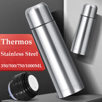 Thermos Flask Stainless Steel Insulated Vacuum Camping Hiking Hot Cold Durable