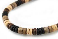 Men Women Surfer Choker Necklace Bracelet Anklet coco 5mm Natural Wood beads