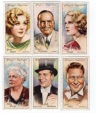 Six 1934 Film Star Cards Gloria Stuart Douglas Fairbanks Jack Oakie Anna Neagle
