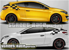Renault Megane 013 - MK3 RS small flag squares flag squares decals graphics