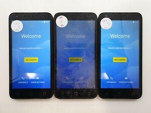 Lot of 3 Alcatel IdealXCITE 5044 8GB ATT/Cricket Check IMEI A/B/C TO-814