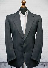 The Label Single Breasted Grey multi Stripe Suit Jacket 40 Short