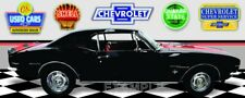 1967 Chevrolet Camaro RS Black Red Stripe Garage Scene Vinyl Banner.Two sizes