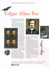 #833 42c Edgar Allen Poe #4377 USPS Commemorative Stamp Panel