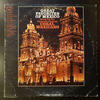"Coral Mexicano ""Great Favorites of Mexico"" Vinyl Record LP"