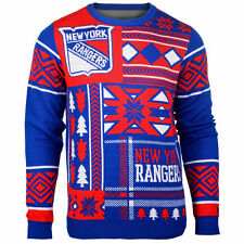 NHL New York Rangers Alternate Patches Ugly Sweater Christmas Pullover