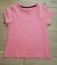 peach / coral plain tshirt age 4-5 years top from george