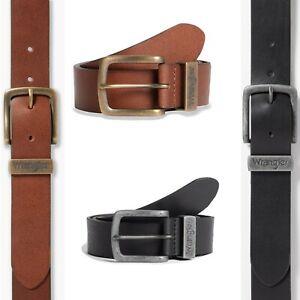 Wrangler New Authentic Men's Metal Embossed Loop Tough Leather Buckle Belt