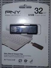 *BRAND NEW* PNY USB 2.0 Flash Drive 32GB/BLACK (P-FD32GATT03-GE) FREE SHIPPING
