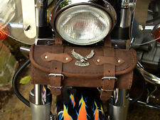 SeBr Brown Leather Tool Roll Bag Suzuki Volusia Intruder Marauder c m 800 vl1500