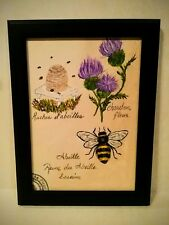 Original Acrylic signed Painting, Bee True, by Herbie Hasbrouck Jr