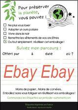 """Lot de 1000 étiquettes pour Recyclage emballage cadeau modèle """"Humour"""""""