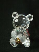 Swarovski Crystal Kris Bear with Honey Pot 213068 Boxed Mint RARE Retired