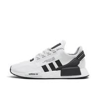 Men's adidas NMD R1 V2 Casual Shoes White/Core Black/White FV9022 100