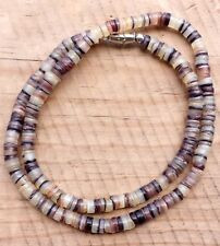 Brown Shell Beach Surfer Necklace 17 1/2 inch