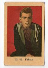 1950s Swedish Film Star Card D Set #45 American Teen Idol Fabian Forte