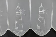 m/€ 17,10 Scheibengardine Gardine Bistrogardine 60 cm hoch Maritim Leuchtturm