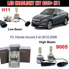 H11+9005 HB3 LED Headlight Kit Light Bulb For Honda Accord 2dr. 2012-2008 Hi/Low