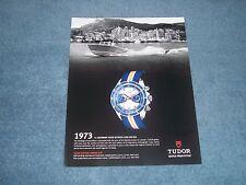 "2014 Tudor Heritage Chrono Blue Watch Ad ""41 Legendary Years Between Land & Sea"""