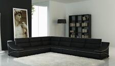 Wohnlandschaft Designer Sofa Couch Big Polster Leder Sofas Eck Ecke  Sitz Black