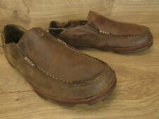 OluKai Moloa Brown Leather Mens Slip On Loafer Shoes Size 10.5
