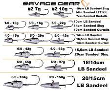 Savage Gear Sandeel Jig Heads - Bass Wrasse Cod Pollock Sea Lure Fishing Tackle #1/0 10g
