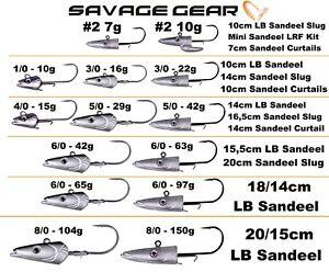 Savage Gear Jig Heads For Sandeel Slugs Lures Bodies Combos Sea Cod Micro lrf