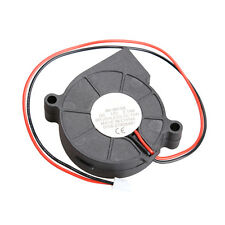 Black Brushless DC Cooling Blower Fan 2 Wires 5015S 12V 0.14A 50x15mm HCXM