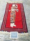 3 X 5 Feet Vintage Portrait Zanjabeel Tribal Afghan Wall Hanging Carpet
