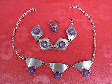 pretty, old jewelry set__Tin Danmark__Tin Denmark __handmade