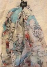 LOUNGEFLY/DISNEY Alice nel paese delle meraviglie W oblunghi sciarpa Nuovo con etichette Uk Venditore