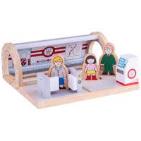 Bigjigs Rail Wooden Underground Station - Railway Train Set Accessories