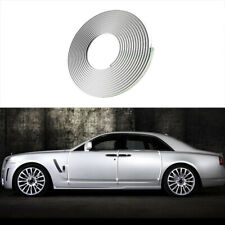 7mm*13M Car Door Window Bumper Decoration Moulding Trim Silver Chrome Strip DIY