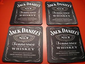 4 x Neoprene Drink Coasters 10cm x 10cm JACK DANIELS (YOUR DESIGN OR LOGO )