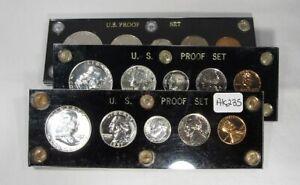 1957 Gem Proof Set 5 Coin Set in Black Capital Plastics Holder 90% Silver AK235