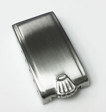 Rolex Vintage Big Logo Stainless Steel Buckle Cover Authentic Swiss Made 12mm