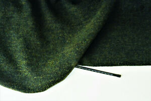 OLIVE GREEN WOOL CASHMERE BLEND LUXURY BOUCLE MADE IN ITALY FOR G ARMANI B8